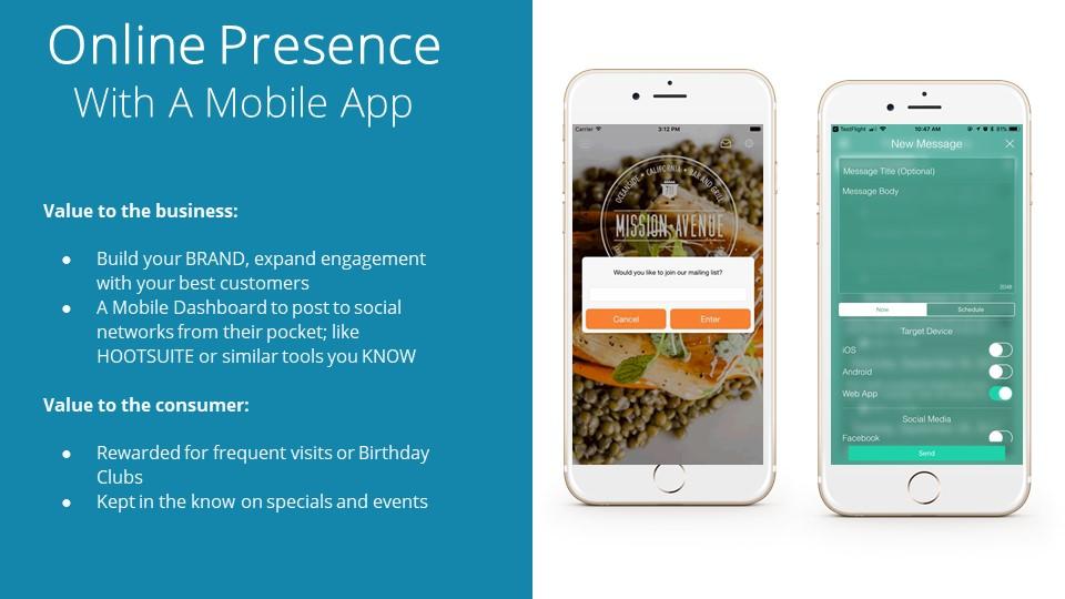 Online Presence Mobile App