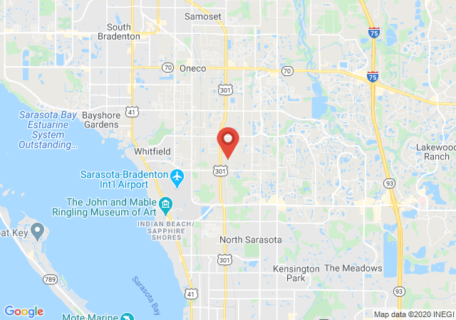 Google map image of Sarasota, Florida, 34243