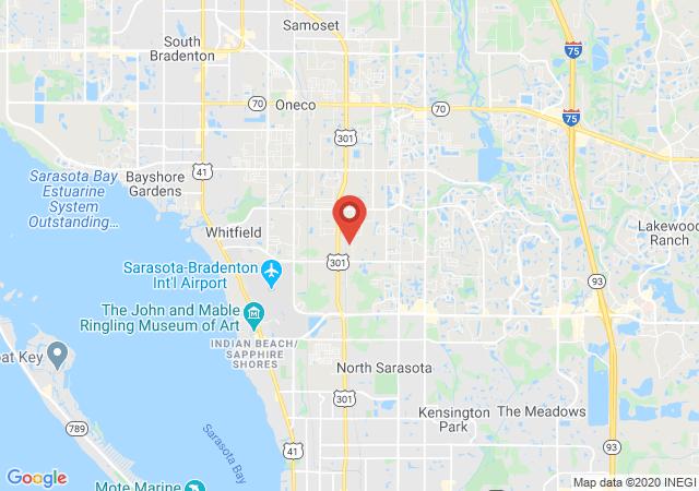 Google map image of Sarasota, Florida, 34243